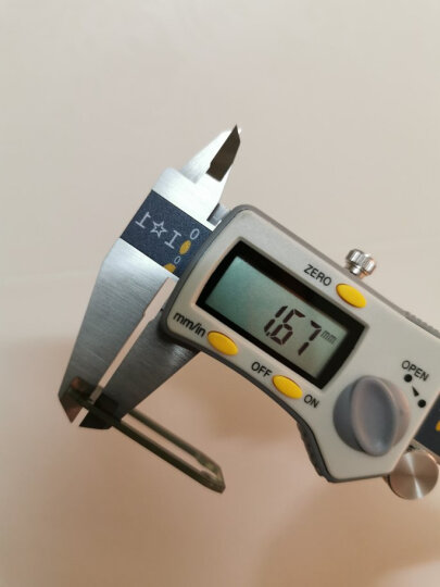 上工 三按键电子数显卡尺游标卡尺不锈钢数显尺0-500/0-20 晒单图