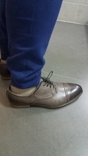 爱得堡 商务休闲鞋正装鞋男士英伦皮鞋婚鞋 M1617 棕色 41码 晒单图