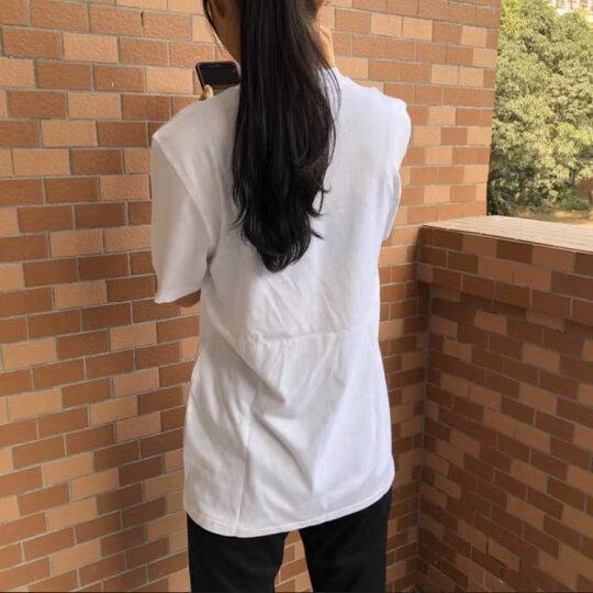 阿迪达斯短袖男2020夏季新款官网体恤男士运动半袖透气圆领T恤男 GH4601/经典三条纹/保暖棉服 M 晒单图