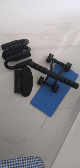 凯速KANSOON家用静音轴承三轮健腹轮健腹器腹肌轮(含地垫、刹车片)俯卧撑支架两件套黑色 晒单图