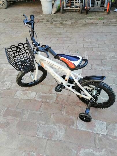 XBEIER 儿童自行车 12寸14寸16寸18寸儿童单车男女童车 儿童车自行车 升级版海蓝色带车筐带礼品 16寸 晒单图