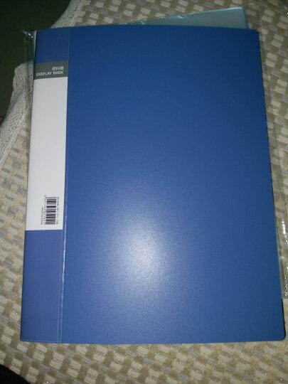 得力(deli)A4/40页资料册 文件活页收纳册 插袋档案文件夹 办公用品5104 晒单图
