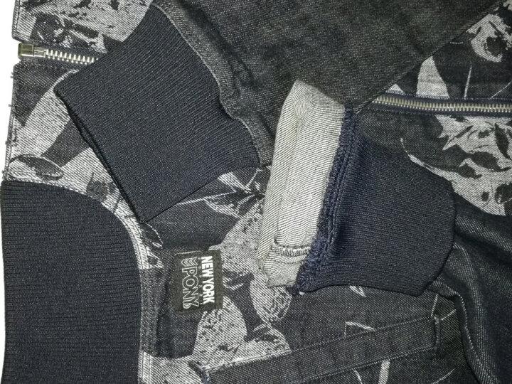 波尼PONY 女子 运动休闲系列 牛仔棒球夹克 53W2MC41JS M码 晒单图
