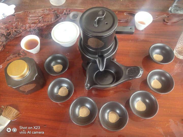 瓷牌茗 金叶子功夫茶具套装家用创意懒人自动茶壶泡茶杯茶叶罐茶道整套 青瓷(梅子青)自动茶具8头 晒单图