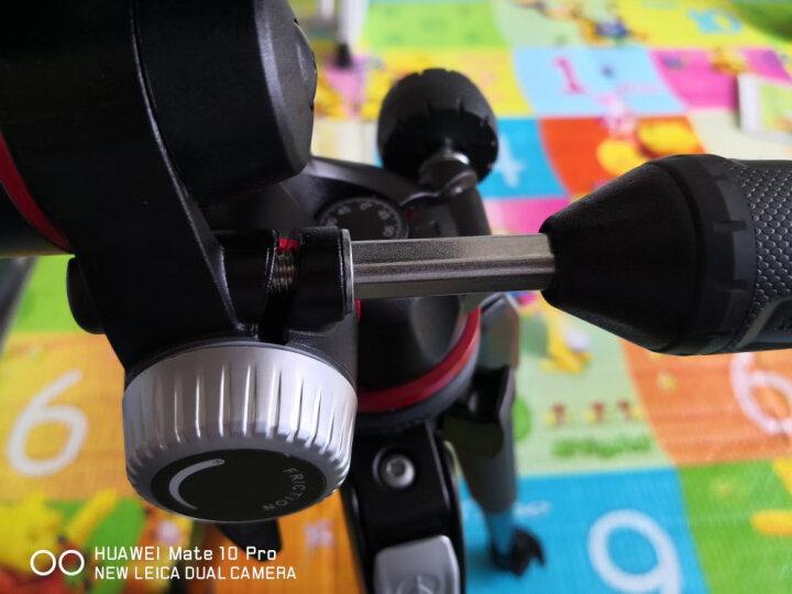 曼富图(Manfrotto)MK190XPRO3-3W 190系列铝合金三节三脚架三维云台套装配XPRO三维云台 90°中轴橫置系统 晒单图