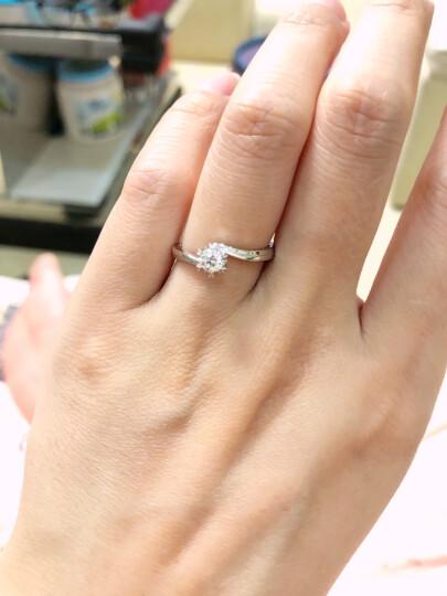 DR Darry Ring DR雪花钻戒佩戴求婚结婚订婚女戒定制钻石戒指白18K金 勿拍!30分 J色SI1 切工VG 具体手寸,详询客服 晒单图