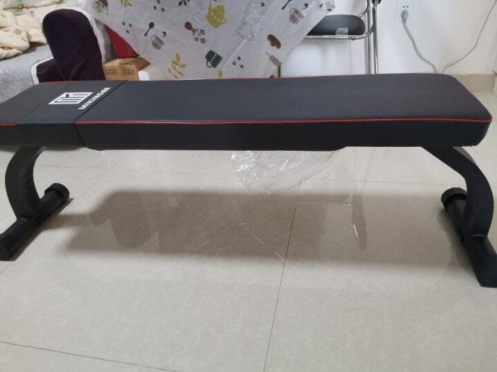哑铃凳杠铃凳卧推凳平凳健身椅家用折叠飞鸟凳仰卧起运动训练器材 黑色(准商用款) 晒单图