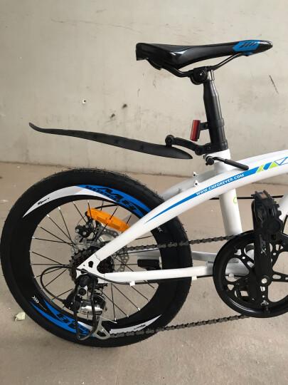 永久20英寸折叠自行车禧玛诺7变速双碟刹男女式成人学生城市轻便单车小公路车跑车 白蓝色 晒单图