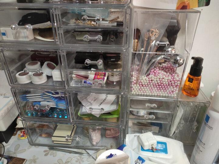 亚加丽加 防尘化妆刷收纳盒 透明眉笔眼线笔美妆刷子展示架 放化妆刷的收纳盒 四边超大号刷桶+白珍珠330g+粉珍珠约330g 晒单图