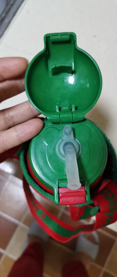 杯具熊(BEDDYBEAR)儿童保温杯带吸管儿童水杯316不锈钢保温儿童水壶630ML 3D浮雕-红色小熊 晒单图