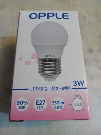 欧普照明(OPPLE) led灯泡节能大螺口家用商用大功率光源超亮E27球泡E14螺旋- 【限购1组均价3.9/个】2只装3瓦E27灯头 白光 晒单图