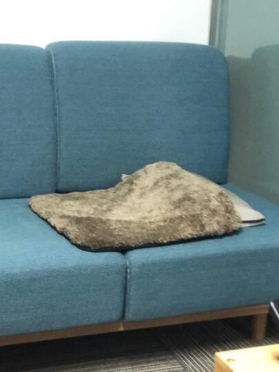 AUSKIN澳世家椅垫坐垫卷花羊毛简约现代 巴斯椅垫-暗夜黑 BK 50x50cm 晒单图
