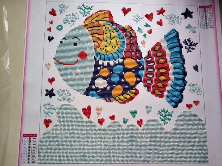美岸十字绣新款小件5D钻石画满钻客厅卧室装饰画儿童卡通海底世界贴钻点钻水晶砖石画异形钻石绣手工刺绣 海底世界一45*45厘米 晒单图