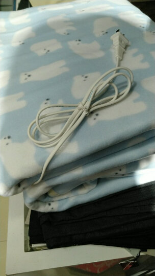 彩虹电热毯双人 电褥子双人 双控双温电热毯(长1.7米宽1.4米)JD104升级款 拉毛绒 花色随机 晒单图