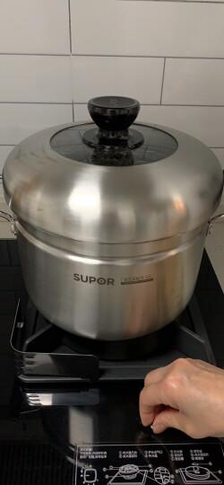 苏泊尔SUPOR蒸滋味复底304不锈钢汤蒸多用锅明火电磁炉通用22cm汤锅单层蒸笼SZ22S1 晒单图