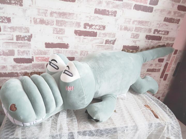ins搞怪可爱巨无霸鳄鱼恐龙毛绒玩具公仔抖音同款女孩睡觉抱枕玩偶大号布娃娃生日礼物 女生 深棕蓝白毛衣丝带熊 2.1米 晒单图