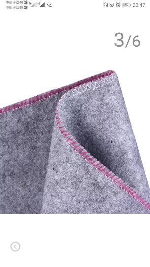 手捞坊 书画灰色毛毡垫文房用品毛笔书法毛毡40*70CM米字格宣纸毛笔画毡垫子 晒单图