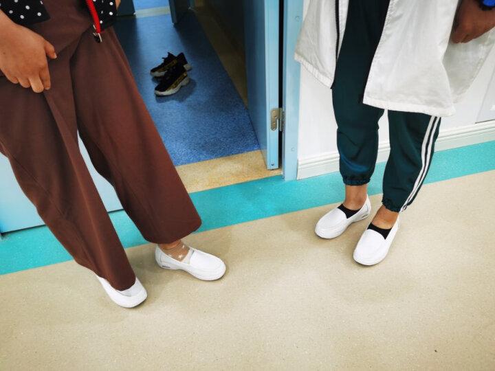 圣诗丹特夏季透气护士鞋气垫白色真皮防滑单鞋中跟检验室软底轻便女工作鞋 4747 休闲 37 晒单图