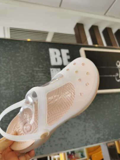 洞洞鞋女果冻鞋平底孕妇凉鞋防滑夏季包头玛丽珍沙滩鞋女学生变色护士拖鞋松糕雨2020 咖啡/樱花 36码 晒单图