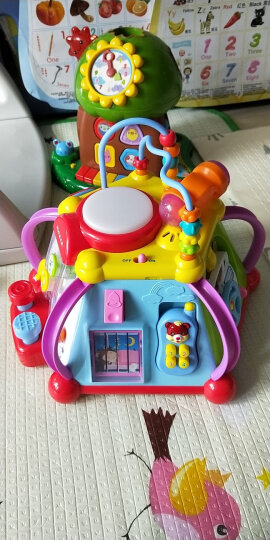 汇乐玩具(HUILE TOYS)787 三合一学步车 益智玩具  手推车写字板学习桌助步车宝宝婴儿玩具7-18个月 晒单图