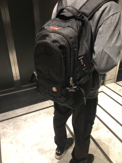 SWISSGEAR加密防盗双肩包 防水商务苹果笔记本电脑包15.6英寸/17英寸企业年会采购双肩背包书包SA-9393XL黑色 晒单图