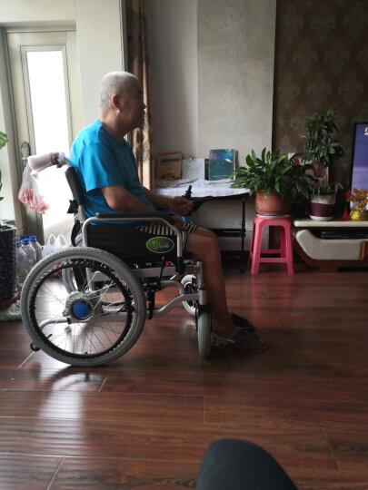 九圆 电动轮椅可折叠代步车残疾人老年人自动轮椅车老人轻便可选锂电池 基础双人款(站式载人+可后控)  超威铅酸 晒单图