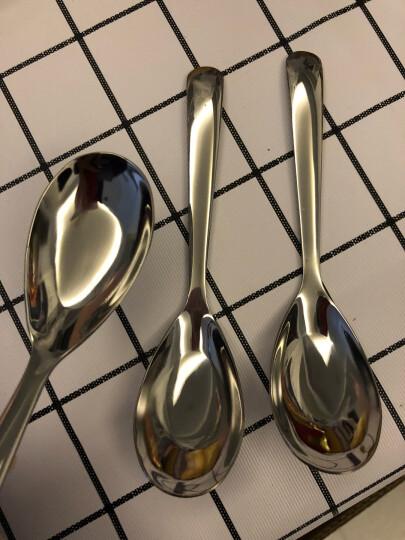 吉睿 筷勺/刀叉 经典系列 3号不锈钢平底小汤匙勺3支装 CZ5010 晒单图