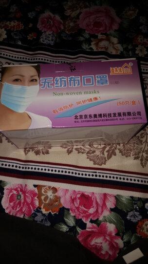 适美佳三层一次性口罩防尘颗粒物蓝色50只(独立包装) 晒单图