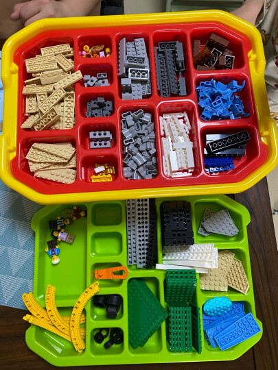 RETAINER乐高收纳盒 多层小颗粒透明塑料盒子 lego玩具积木零件分类整理箱 黑色 晒单图