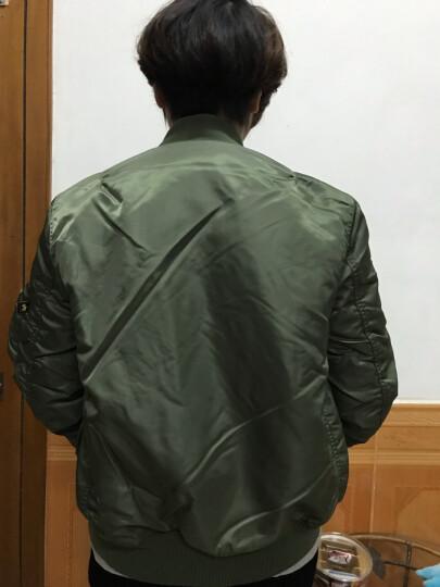 ALPHA INDUSTRIES 阿尔法工业MA-1飞行夹克  男士军迷外套棉衣ma1 军绿色 XL 晒单图