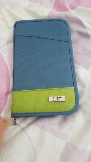 BUBM THZ 旅行出差护照包收纳包多功能卡包钱包手机手提证件包 蓝色小号 晒单图