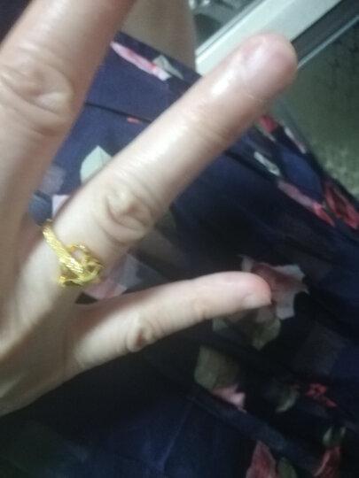 六福珠宝 足金心形黄金女款开口戒指活口戒 计价 GAG40027 2.48克(含工费106元) 晒单图