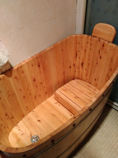 嘉熙木桶成人浴桶浴缸洗澡泡澡桶【感恩2型1.05m 】 晒单图