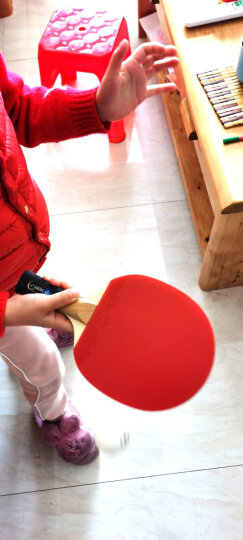 729 乒乓球拍横拍单拍 6星六星VERY碳素球拍长柄双面反胶 晒单图