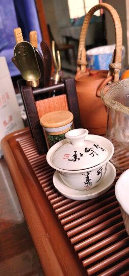 瓷牌茗茶道六君子套装黑檀木实木功夫茶具茶艺配件组合茶针匙杯托养壶笔茶盘摆件 晒单图