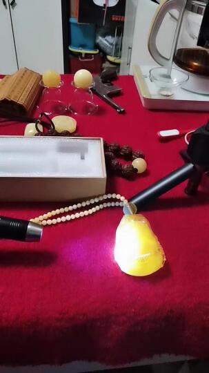 Sanjicha 双光源照玉石专用强光手电筒 荧光剂检测验钞笔珠宝翡翠赌石专用白黄365紫光灯 B222【白光+黄光】套餐 晒单图