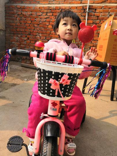 嘟嘟兔儿童三轮车脚踏车宝宝婴幼儿童车小孩三轮车遛溜娃轻便手推车1-2-3-4-5岁 免充气胎粉色双脚踏带手推杆+安全带 晒单图