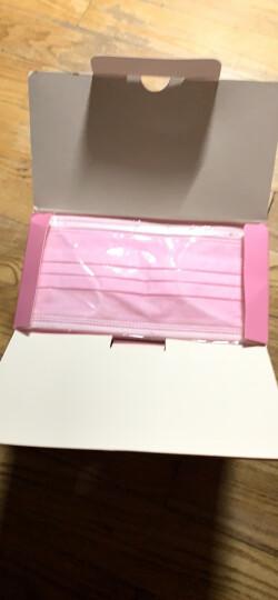 绿呼吸 一次性口罩女冬季保暖防尘颗粒物防晒三层 (粉色50只独立包装) 晒单图
