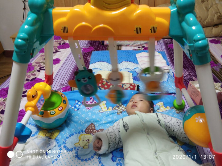 澳贝(AUBY)益智玩具婴儿宝宝探索电子锤婴幼儿童声光敲打男孩女孩儿童节礼物(新旧配色随机发货)461570 晒单图
