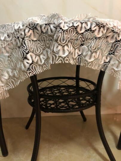 星奇堡 藤椅三件套阳台桌椅五件套客厅户外休闲庭院茶几椅组合室外腾编椅子 古黄色四椅(带坐垫桌布抱枕) 晒单图