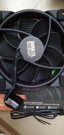 超频三(PCCOOLER)皓月 12CM蓝光 机箱风扇 (水冷排散热/电脑台式机风扇/CPU风扇/减震静音/赠4颗螺丝) 晒单图