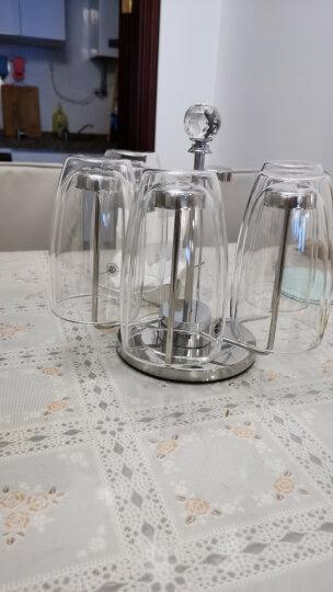 KARPHOME卡普家居耐热玻璃杯双层家用泡茶杯办公室防烫手喝水杯啤酒饮料果汁杯子杯架套装 6只装250ML+不锈钢杯架 晒单图