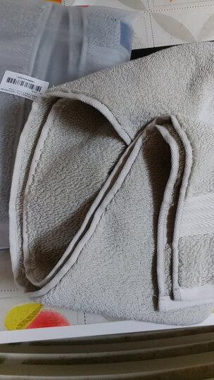 三利 A类加厚长绒棉 缎边大面巾 纯棉洗脸毛巾 柔软舒适 带挂绳 婴儿可用 米色 晒单图