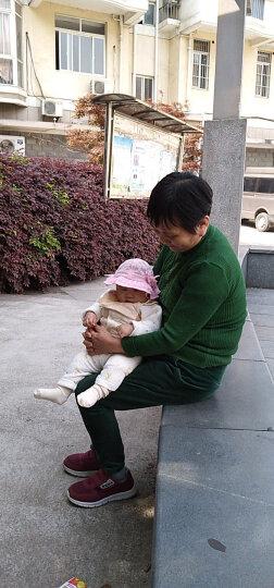婴儿盆帽0-3-6-12个月夏天女童蕾丝春秋季小孩遮阳宝宝太阳帽子薄款防晒帽花边新生儿渔夫帽 立体蝴蝶结浅粉 晒单图
