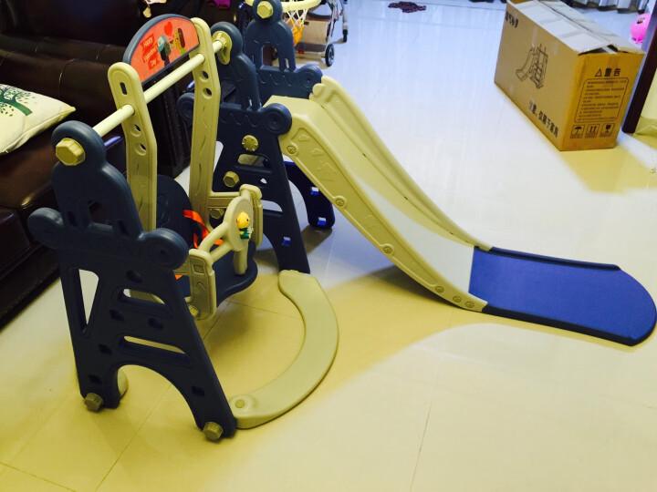 滑滑梯儿童室内玩具家用秋千组合1-3岁宝宝滑梯户外游乐园婴儿秋千 奶油色+300个球+1.3米球池 晒单图