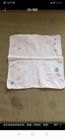 全棉时代 手帕婴儿口水巾三角巾婴儿纱布口水巾 小手帕洗脸巾喂奶小方巾 纯棉全棉 超薄易干32*32cm 3片/袋 晒单图