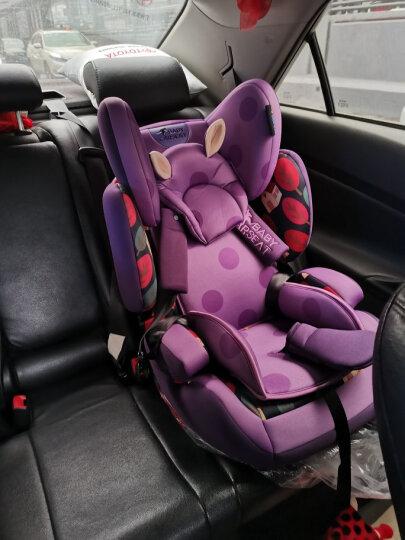 贝贝卡西 【官方旗舰】汽车儿童安全座椅车载宝宝坐椅婴幼儿座椅汽车用增高坐垫9个月-7-12岁3C认证 紫色鸢尾 晒单图