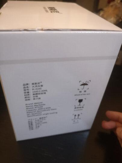 美斯尼 泡茶壶玻璃茶具花果茶壶冷凉水壶过滤网茶水杯子茶盘加厚明火耐高温加热烧水煮茶器套装茶水分离 单壶1600毫升 ( 4-6人 ) 晒单图