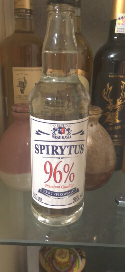 500ml波兰原瓶进口96度生命之水伏特加Spirytus烈酒洋酒进口商加子弹杯 晒单图