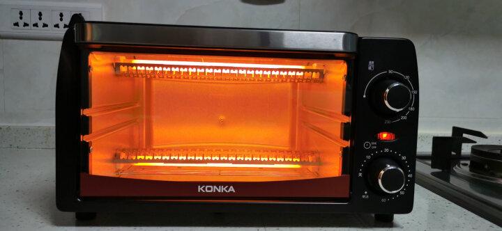 康佳(KONKA)电烤箱小型家用电器多功能12L迷你烘焙机小烤箱家庭用烤炉家电 KAO-1208 晒单图